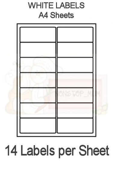 template for labels 14 per sheet - 14 labels per sheet x 10 sheets labels a4 sheets 14
