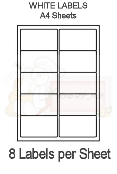 8 labels per sheet x 10 sheets labels a4 sheets 8 for 8 per page label template