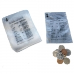 QTY 100 - Coin Money Bank Bags (No Mixed Coins) New & Re-Usable