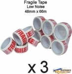 QTY 3 Rolls - Printed FRAGILE