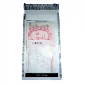 QTY 250 Medium Money Bank Bags (Notes/Valuables) TAMPER EVIDENT
