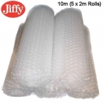 QTY - 10m of 300mm (5 x 2m Rolls) Jiffy Bubble Wrap - Clear