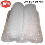 QTY - 20m of 500mm (10 x 2m Rolls) Jiffy Bubble Wrap - Clear